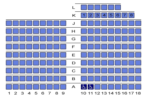 Seating Plan Bonington Theatre